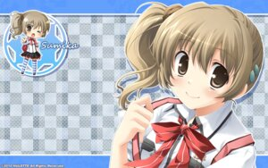 Rating: Safe Score: 18 Tags: chibi hulotte ikegami_akane makiya_sumika wallpaper with_ribbon User: maurospider