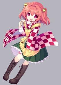 Rating: Safe Score: 19 Tags: heels japanese_clothes megane minamura_halki motoori_kosuzu no_background touhou User: Randeel
