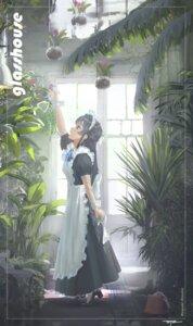 Rating: Safe Score: 20 Tags: da_tengzi heels maid mogami_shizuka the_idolm@ster the_idolm@ster_million_live! User: leotard