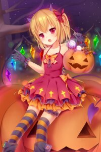 Rating: Safe Score: 49 Tags: dress flandre_scarlet garter halloween horns nachi thighhighs touhou wings User: Zenex