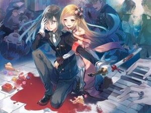 Rating: Safe Score: 20 Tags: blood dress eihi seifuku sword thighhighs User: KazukiNanako