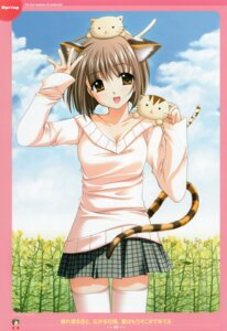 Rating: Safe Score: 13 Tags: animal_ears arisugawa_yui lovely_idol nekomimi nishimata_aoi tail thighhighs User: syaoran-kun