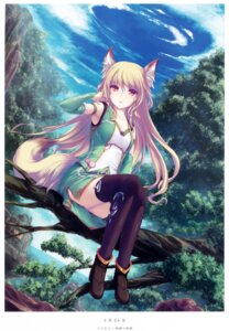 Rating: Safe Score: 62 Tags: animal_ears heels tail tenmaso thighhighs User: donicila