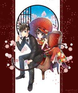 Rating: Safe Score: 24 Tags: animal_ears duji_amo kimono tail User: dyj