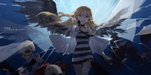 Rating: Safe Score: 42 Tags: bandages dress gun rachel_gardner satsuriku_no_tenshi swd3e2 wings User: Mr_GT