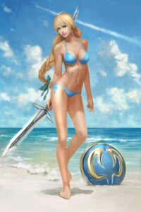 Rating: Questionable Score: 39 Tags: bikini feet namco sophitia_alexandra soul_calibur swimsuits sword weapon User: Yokaiou