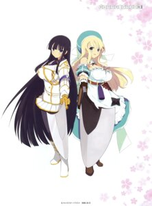 Rating: Questionable Score: 45 Tags: dress ikaruga pantyhose senran_kagura sword uniform yaegashi_nan yomi_(senran_kagura) User: Radioactive