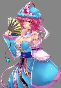 Rating: Safe Score: 4 Tags: cleavage japanese_clothes saigyouji_yuyuko touhou wakaru User: charunetra