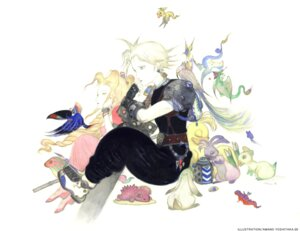 Rating: Safe Score: 6 Tags: aerith_gainsborough amano_yoshitaka cloud_strife final_fantasy final_fantasy_vii User: Dantares