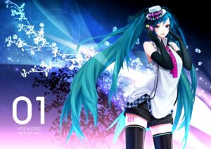Rating: Safe Score: 15 Tags: hatsune_miku kakyouka thighhighs vocaloid User: yumichi-sama