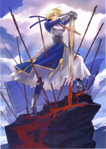 Rating: Safe Score: 19 Tags: blood fate/stay_night hakua_ugetsu saber sword User: Eruru