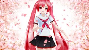 Rating: Safe Score: 36 Tags: cg hatsune_miku sakura_miku seifuku vocaloid User: ホタル