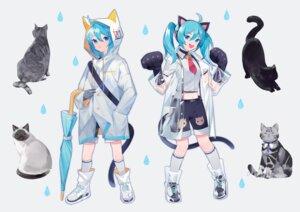 Rating: Safe Score: 9 Tags: animal_ears hatsune_miku neko nekomimi see_through tail umbrella vocaloid yayako_(804907150) User: Dreista