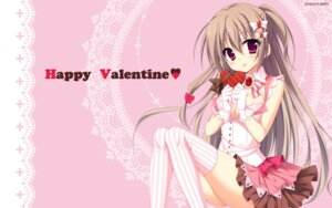 Rating: Safe Score: 71 Tags: karumaruka_circle matsumiya_kiseri narumi_an saga_planets thighhighs valentine wallpaper User: sy1412