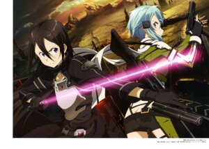 Rating: Safe Score: 27 Tags: armor ass gun gun_gale_online kirito nishiguchi_tomoya sinon sword sword_art_online User: drop