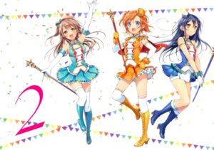 Rating: Safe Score: 22 Tags: heels kousaka_honoka love_live! minami_kotori murakami_yuichi sonoda_umi thighhighs uniform User: Spidey