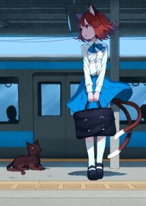 Rating: Safe Score: 54 Tags: animal_ears chen junwool neko nekomimi seifuku tail touhou User: Mr_GT