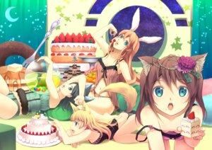 Rating: Safe Score: 49 Tags: animal_ears bunny_ears lingerie nekomimi pantsu yoshino_ryou User: fireattack