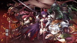 Rating: Questionable Score: 15 Tags: armor demonlord_newbie_vrmmo_sekai_no_seisanshoku_maou horns itou_souichi leotard monster no_bra pointy_ears sword tagme thighhighs weapon User: kiyoe