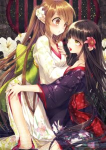 Rating: Safe Score: 58 Tags: cleavage kimono renta undressing yuri User: charunetra
