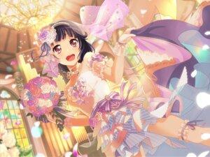 Rating: Safe Score: 27 Tags: bang_dream! bang_dream!_girls_band_party! dress garter tagme ushigome_rimi wedding_dress User: minakomel