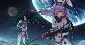 Rating: Questionable Score: 23 Tags: animal_ears bodysuit bunny_ears reisen_udongein_inaba touhou weapon xtears_kitsune User: Dreista