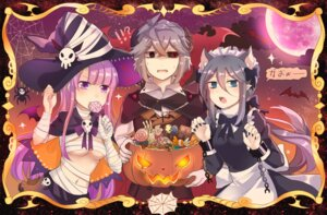 Rating: Safe Score: 19 Tags: animal_ears bandages halloween horns maid no_bra pointy_ears tail underboob witch xinghuo User: Mr_GT