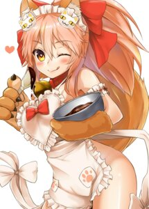 Rating: Questionable Score: 37 Tags: animal_ears cream fate/extra fate/grand_order fate/stay_night naked_apron shiron tail tamamo_cat User: Mr_GT