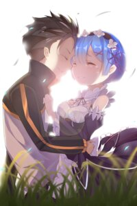 Rating: Safe Score: 39 Tags: cleavage maid natsuki_subaru re_zero_kara_hajimeru_isekai_seikatsu rem_(re_zero) tagme User: Brufh