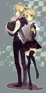 Rating: Safe Score: 7 Tags: kagamine_len kagamine_rin nuage vocaloid User: Radioactive