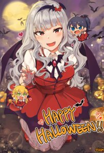 Rating: Safe Score: 38 Tags: chibi ganaha_hibiki halloween hoshii_miki shijou_takane the_idolm@ster thighhighs tuxedo_de_cat wings User: Mr_GT