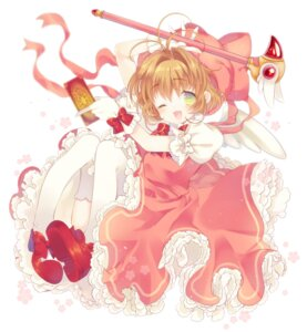 Rating: Safe Score: 21 Tags: card_captor_sakura dress heels kinomoto_sakura liechiberry thighhighs weapon wings User: Mr_GT