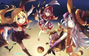 Rating: Safe Score: 34 Tags: crossover halloween hika_(cross-angel) kuuki_shoujo magi_in_wanchin_basilica pantyhose pointy_ears sergestid_shrimp_in_tungkang the_personification_of_atmosphere thighhighs witch xiao_ma xuan_ying User: ledzep4zoso