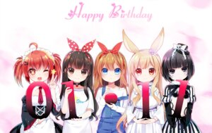 Rating: Safe Score: 28 Tags: animal_ears bunny_ears dress lolita_fashion m.vv maid overalls User: Mr_GT