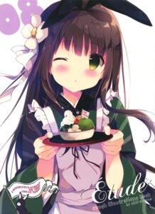 Rating: Safe Score: 64 Tags: gochuumon_wa_usagi_desu_ka? maid shiratama shiratamaco ujimatsu_chiya wa_maid waitress User: Twinsenzw
