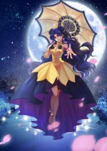 Rating: Safe Score: 30 Tags: cleavage douyougen dress feet luna_(sailor_moon) sailor_moon see_through umbrella User: Mr_GT