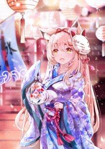 Rating: Safe Score: 22 Tags: animal_ears kitsune mutang yukata User: Mr_GT