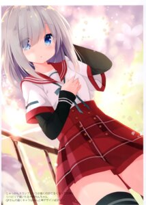 Rating: Questionable Score: 24 Tags: breast_hold dogyear kujou_danbo seifuku tagme thighhighs User: kiyoe