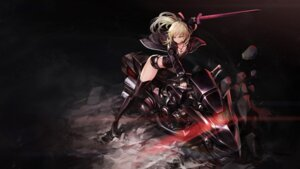 Rating: Questionable Score: 50 Tags: cleavage fate/grand_order goomrrat saber saber_alter sword thighhighs wallpaper User: Nepcoheart