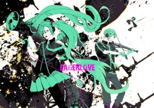 Rating: Safe Score: 10 Tags: hatsune_miku koi_wa_sensou_(vocaloid) nishi_juuji pantyhose vocaloid User: Radioactive