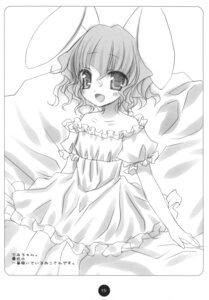 Rating: Safe Score: 7 Tags: animal_ears bunny_ears dress hinayuki_usa inaba_tewi monochrome touhou User: ieiediediedie