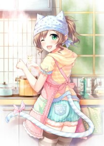 Rating: Safe Score: 62 Tags: animal_ears maekawa_miku nekomimi tail the_idolm@ster thighhighs wasumi_(hasubatake39) User: Mr_GT