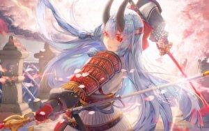 Rating: Safe Score: 40 Tags: armor fate/grand_order horns saihate sword tomoe_gozen_(fate/grand_order) User: RyuZU