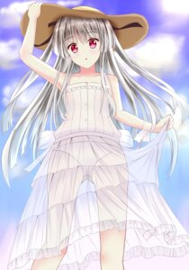 Rating: Questionable Score: 47 Tags: absolute_duo dress pantsu see_through skirt_lift summer_dress tongtongtong yurie_sigtuna User: charunetra