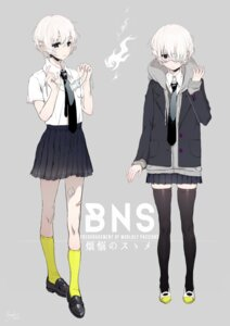 Rating: Questionable Score: 27 Tags: bandaid eyepatch miri_nanase seifuku tagme thighhighs User: Anemone