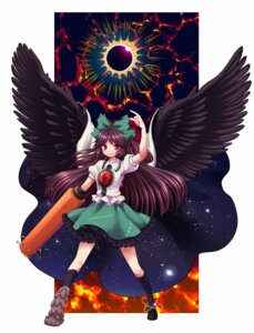 Rating: Safe Score: 6 Tags: pentagon reiuji_utsuho touhou wings User: Nekotsúh