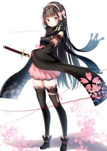 Rating: Safe Score: 69 Tags: horns japanese_clothes kurotobi_rarumu sword thighhighs User: hiroimo2