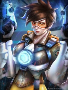 Rating: Safe Score: 19 Tags: bodysuit gun overwatch rena_illusion signed tracer User: charunetra