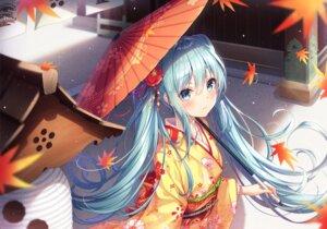 Rating: Questionable Score: 64 Tags: dangmyo hatsune_miku kimono umbrella vocaloid User: Dreista