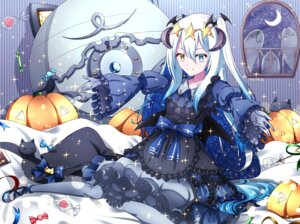 Rating: Safe Score: 17 Tags: dress gothic_lolita halloween heterochromia horns izayoi_tuki lolita_fashion neko pantyhose wings User: sym455